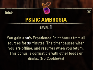 Eso news psijic ambrosia recipe xp boost potion jinx games psijicambrospot forumfinder Images