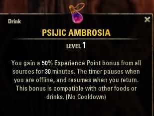 Eso news psijic ambrosia recipe xp boost potion jinx games psijicambrospot forumfinder Choice Image